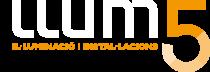 Logo Llum 5 ILUMINACIÓN | PROYECTOS | INSTALACIONES